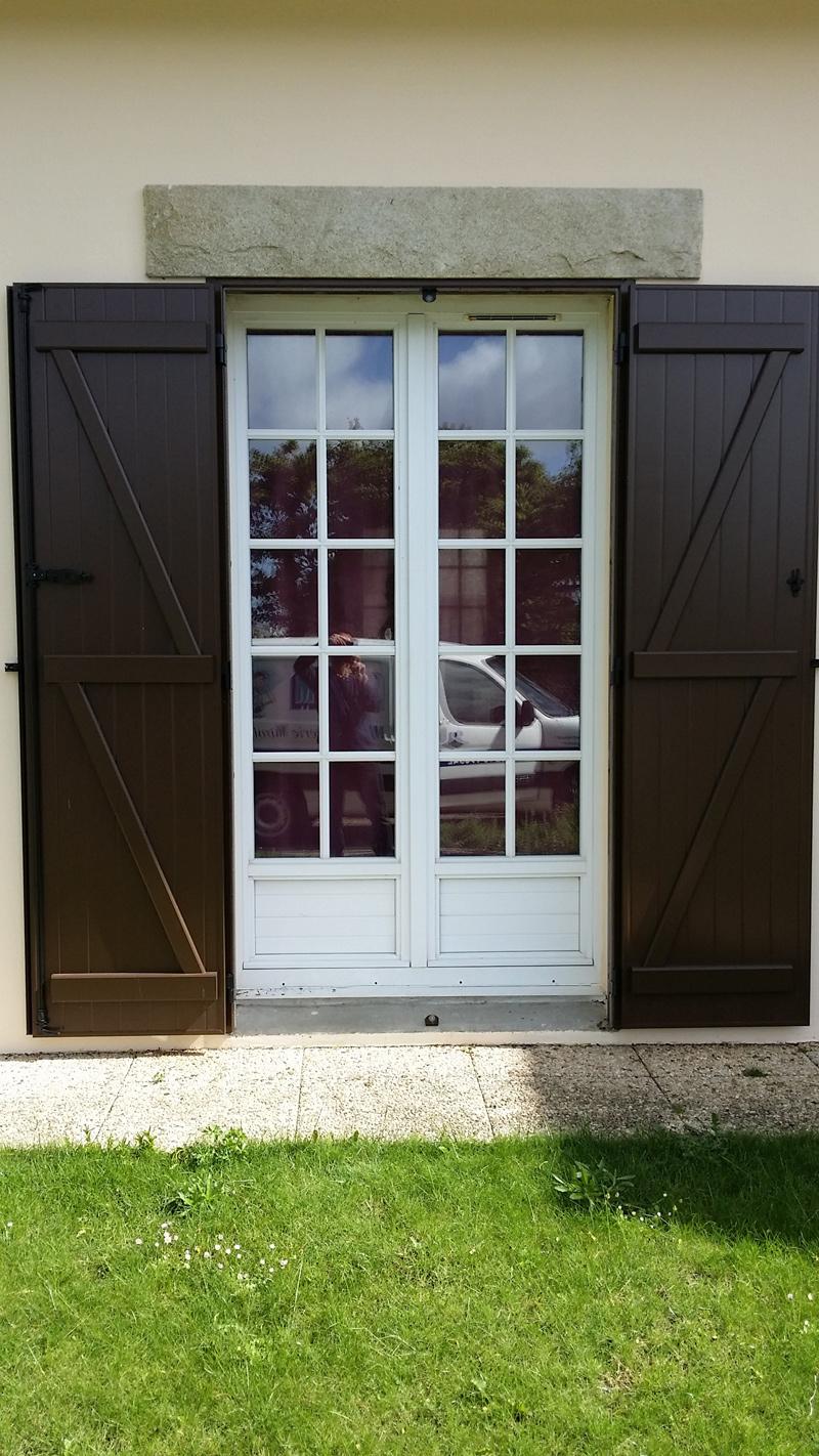 pose volet battant aluminium locmaria plouzan mvm. Black Bedroom Furniture Sets. Home Design Ideas