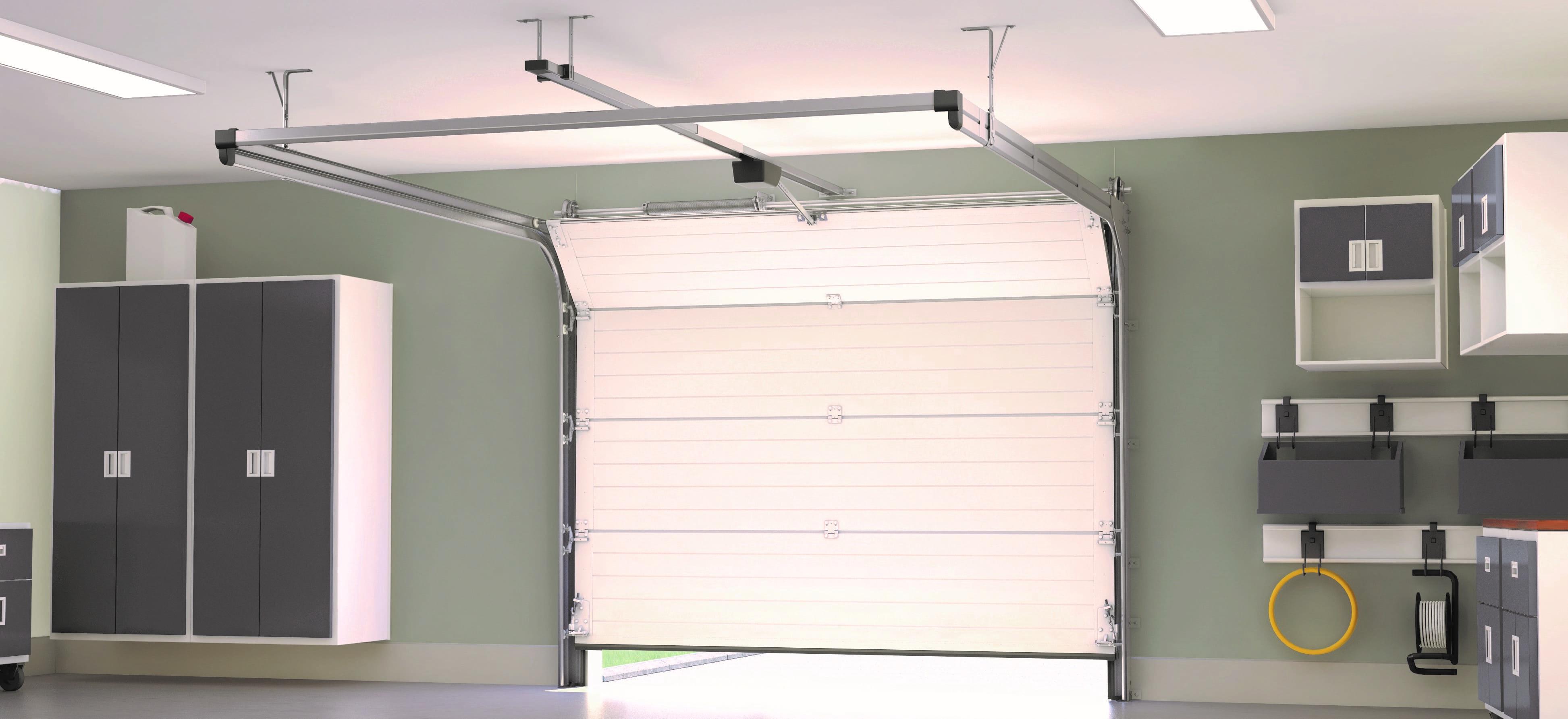 Porte de garage sectionnelle plafond MIAMI France Fermeture_Vue intérieure