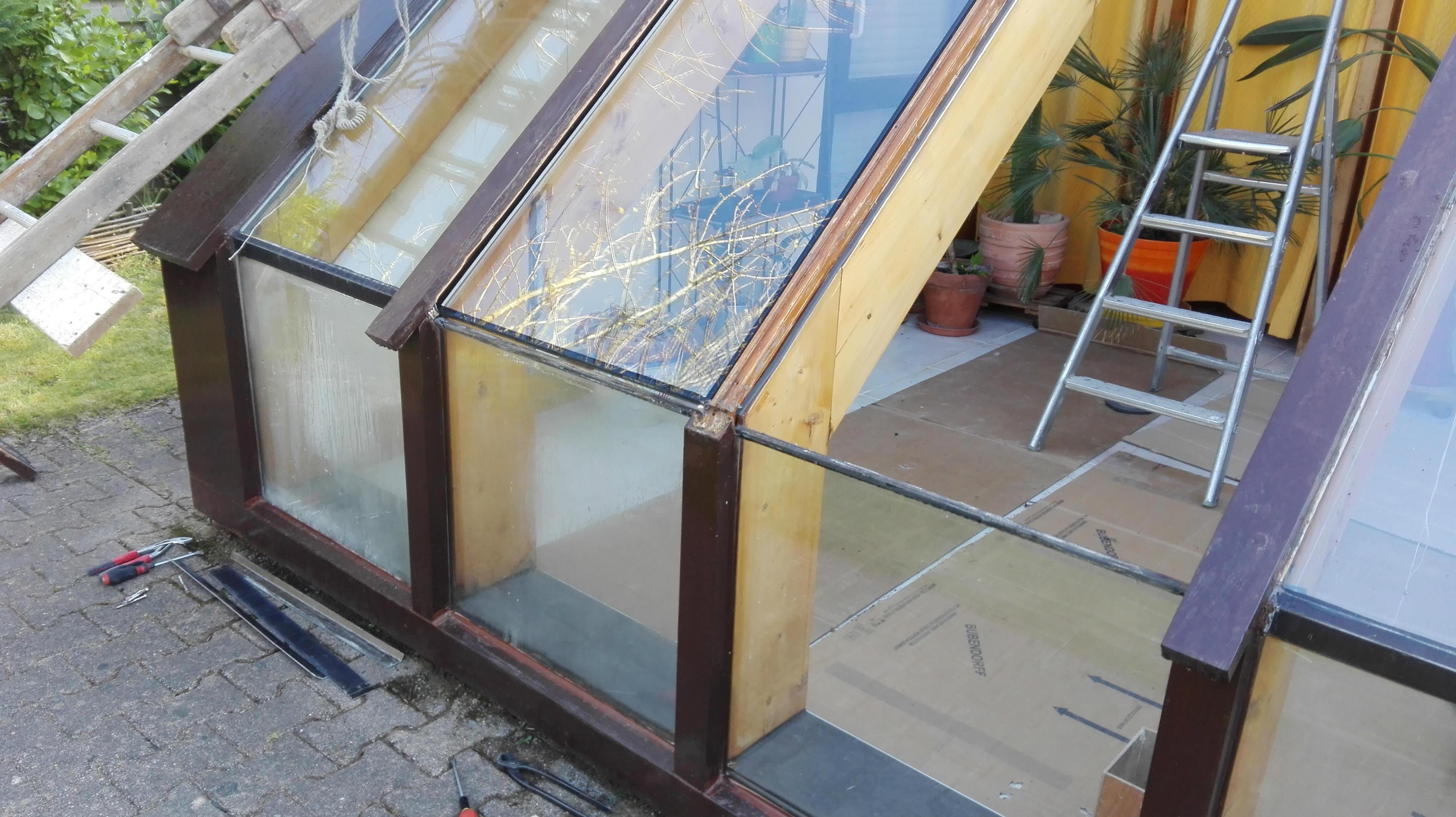 remplacement double vitrage dans une v randa brest mvm. Black Bedroom Furniture Sets. Home Design Ideas